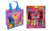 Trolls 5pk Lip balm in Glitter Case on card With NON-Woven Bag Set