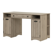 South Shore 10287 Artwork Craft Table with Storage, Rustic Oak