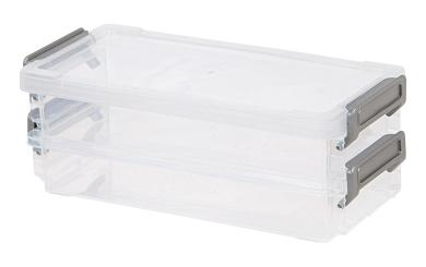 IRIS Layered Latch Box Set, Clear