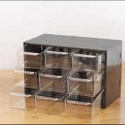 Plastic 9 Lattice Portable Mini Debris Cabinets Amall Drawer Jewellery Storage Box