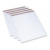 TOPS Easel Pads, Quadrille Rule, 27 x 34, White, 50-Sheet Pads 4 Pads/Carton
