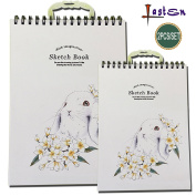 Lasten Sketch Pads, Sketchbooks, 96 Sheets Sketching Paper, 2 Pack-42cm x 29cm and 29cm x 21cm , Acid Free, Perfect Art Book for Sketching, Drawing, Doodling, Notebooks & More