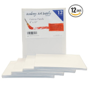 Academy Art Supply Value Pack of 12 8X10 Blank Canvas Panel Boards
