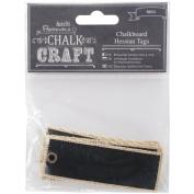 Chalk Craft Chalkboard Hessian Tags 6/Pkg-