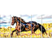 Digital Art PT2424-401 Ride Free Horse Wall Art