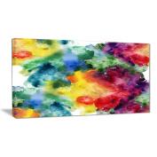 """Designart PT6038-80cm - 41cm Watercolour Texture Abstract"""" Canvas Artwork, Red, 80cm x 41cm"""
