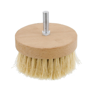 US Art Supply 10cm Wide Chalk and Wax Buffing Brush with 1cm Drill Arbour - Unique Beechwood Base Design Prevents Water Damage, All Natural 2.5cm - 0.6cm Bristles