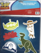 Disney Pixar Toy Story Puzzle Colouring Set With 6 Crayons