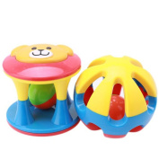 ULAKY 2pcs Baby Newborn Grasp Toy Jingle Rattle Rolling Ball Ring Hand Bell Gift