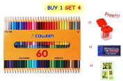 Colleen Coloured Pencils 60 Colour (2 Sides of 30 Pencils) with Special Gift Only 100 Set.
