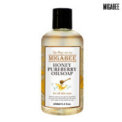 [MIGABEE] Honey Pureberry Oil Soap 250ml, 100% Natural Ingredient Botanical Skin Care, All in One Moisturising Cleanser, Oil to Bubble Foam, Nourishing