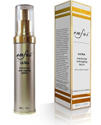 Emfai Ultra AntiAging Serum with Firming Stem Cells, Wrinkle Vanish Argireline & Matrixyl, Hydrating Hyaluronic Acid, Skin Growth Factor EGF, gentle exfoliation plus Copper Peptide, Q10 and Carnosine.