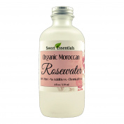 Premium Organic Moroccan Rose Water - 120ml Glass Bottle - Imported From Morocco - 100% Pure (Also Edible) Perfect for Reviving, Hydrating and Rejuvenating Your Face and Neck - By Sweet Essentials