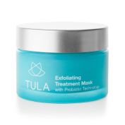 TULA Exfoliating Treatment Mask with Probiotic Technology, 50ml - Dual-Phase Treatment Mask with Hydrating Vitamin E, Soybean Oil & Bentonite Clay