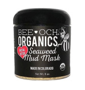 USDA Organic Seaweed Mud Mask - Facial Detox Mask - Draws out Toxins - Packed with Vitamin B12 Not Found in Land Plants.