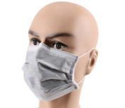 50 Pcs Disposable Anti Dust Breathable Charcoal Activated Carbon Earloop Mask with Independent Packing 4 Layer Non-woven Medical Surgical Mouth Face Mask