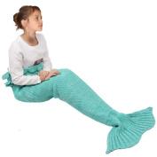 Mermaid Blanket for Kids,Amyhomie Mermaid Tail Blanket,Super Soft All Seasons Sleeping Bag
