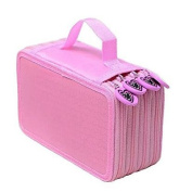 Miss.AJ Zippered 4-Layer Large Capacity 72-Slots Students Coloured Pencils/Arts Crafts/Pen/Stationery Holder Bag Case Pounch Storage Box Organiser Suitcase with Handle