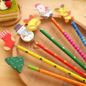 Christmas Stockings gift 10pcs Coloured Pencils/ Drawing Pencils for Sketch/Secret Garden Colouring Book