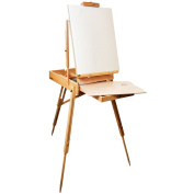 SketchBox French Style Wood Easel - 30cm Storage Drawer, Wood Palette,