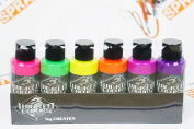 Createx Wicked Colours Fluorescent Set Airbrush Paint Water Based 6 60ml W103