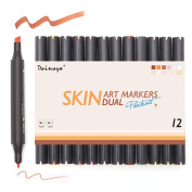 Dainayw Dual Skin Markers For Portrait, Painting Art Supplies, 12-Pack