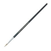 CLI Round Camel Hair Paint Brushes - 12 Brush(es) - No. 6 - Aluminium Ferrule - Wood Handle - Black