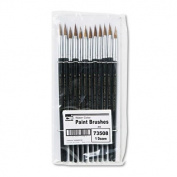 CHARLES LEONARD, INC 73508 Artist Brush, Size 8, Camel Hair, Round, 12/Pack