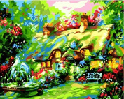 Best Pictures Diy Digital Oil Painting Paint By Numbers Christmas Birthday Unique Gift Beautiful Cottages E280