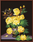 Beautiful Flower Oil Painting Canvas Diy Painting Draw By Number 4050Cm G068