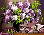 Framless Painting By Numbers Paint By Number Colouring By Numbers For Home Decor Picture Oil Painting Canvas Painting Flower