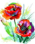 Framless New Arrival Unique Gift Digital Oil Painting On Canvas Painting By Numbers Decorative Picture 4050-Corn Poppy Flower