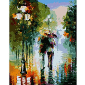 Framless Arrival Unique Gift Digital Oil Painting On Canvas Painting By Numbers Decorative Picture Abstract Walking In The Rain