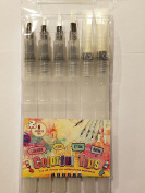 Watercolour brush pen set-6 Assorted Tips. For Watercoloring,Blending,Ink,Calligraphy.Durable, DON'T LEAK-Nylon Hair. By Colourful-Tips.Perfect for Artists, Kids,Newbie. Get yours NOW.