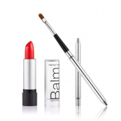 Jocestyle Portable Travel Retractable Lip Brush with Cover and Sexy Red Lipstick Set Makeup Cosmetic Tool Kit