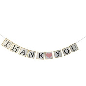 Miss.AJ THANK YOU Wedding Bunting Banner Photo Booth Props Garland Anniversary Bridal Party Decoration