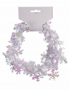 Forum Wire Pearly Christmas Snowflake 2.7m Garland, White