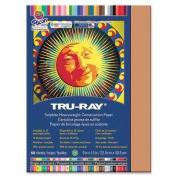 Tru-Ray Construction Paper, 34kg., 23cm x 30cm , 50/PK, Tan