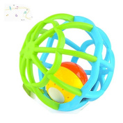 Music and Colourful Lights Soft Activity Ball Goodway Toy,Yellow/ Blue/Red