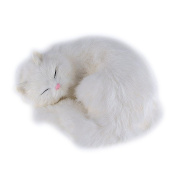 BESTLEE Slepping Cat Plush Tabby Soft Toy