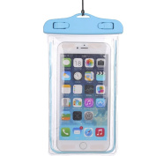 1Pack Blue Universal Waterproof Case, CaseHQ CellPhone Dry Bag Pouch for Apple iPhone 6S 6,6S Plus,7 SE 5S, for for for for for for for for for Samsung Galaxy S7, S6 Note 5 4, HTC LG Sony Nokia Motorola up to 5.7 diagonal