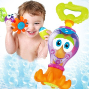 EITC Water Bath Toys Baby Bath Play Toys Sets for Children Kids Cartoon Octopus Fun Pool Toys Water Spraying Taps Early Educational Tool Gifts