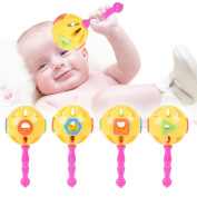 EITC Baby Rattle Toy Grasping Activity Jingle Ball Developmental Toy Toddler Babies Educational Toys Random Colour