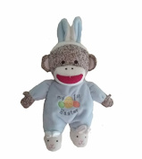 Baby Starters Plush Monkey My 1st Easter, Blue