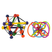 Manhattan Toy Skwish Classic Rattle and Teether Grasping & Winkel Rattle and ...