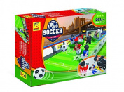 BrickLand Sports Soccer Toy Soccer Stadium Includes Everything Your Kids Need For a Great Soccer Game