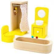 Wooden Wonders County Bathroom Set Dollhouse Furniture (4pcs.) by Imagination Generation