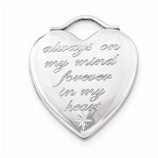 Sterling Silver 24mm Always On My Mind Forever In My Heart Locket