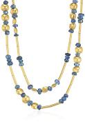 "GURHAN ""Delicate Rain"" 24k Long Sapphire Bead and Lentil Strand Necklace"