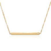 Bar Necklace 14 Karat Gold on Sterling Silver Delicate Necklace Jewellery for Women, Teens, Girls